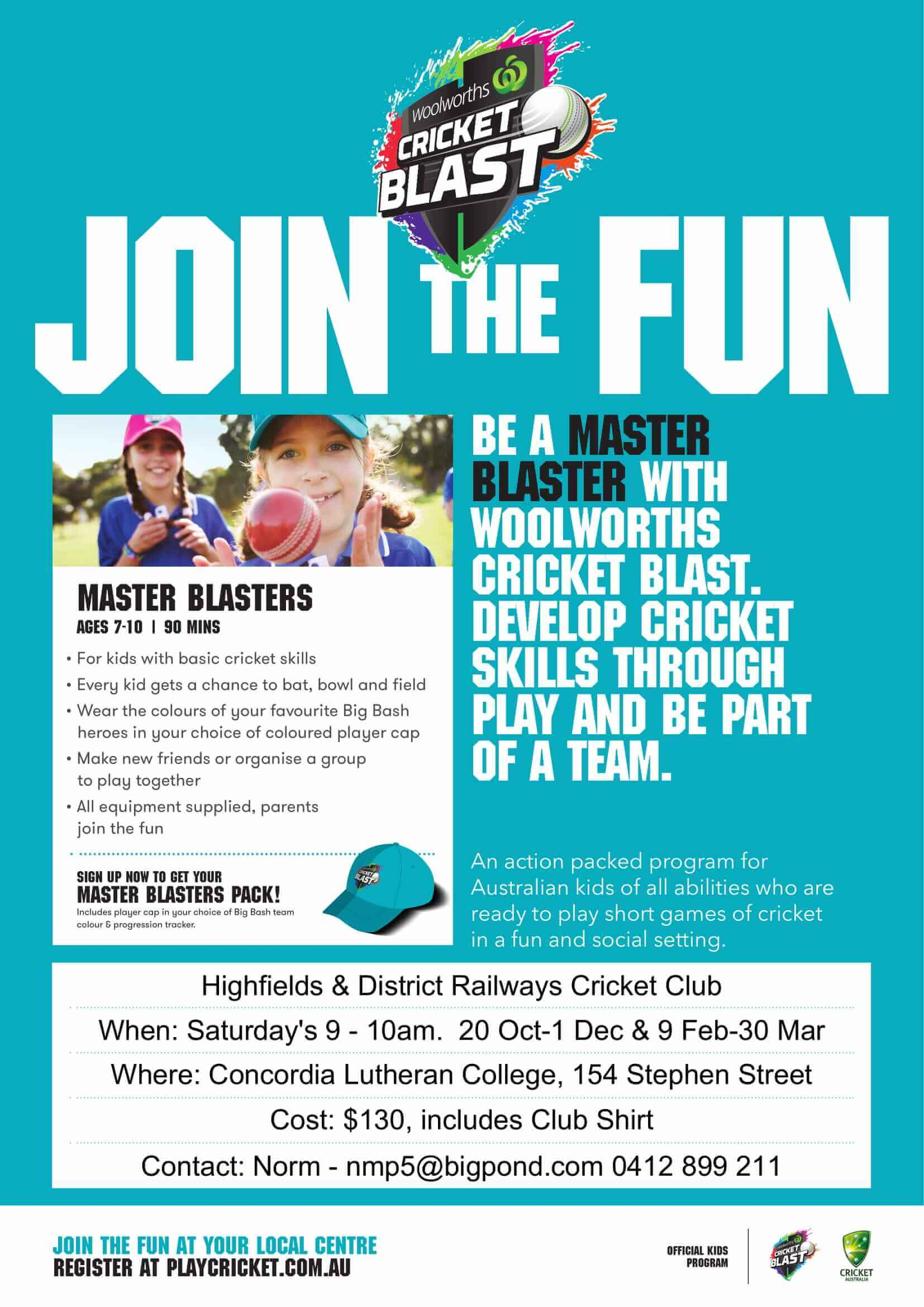 Master Blaster Junior Cricket Highfields